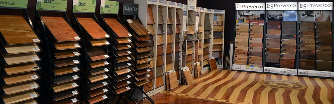 hardwood floor showroom