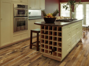 moroccan hickory flooring in kitchen